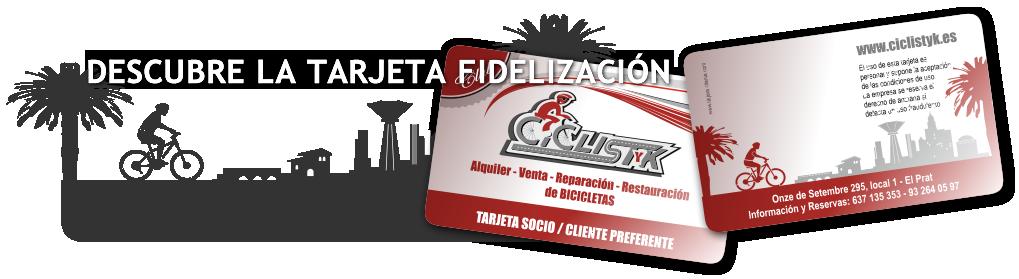Descubre la tarjeta de fidelización de Ciclistyk